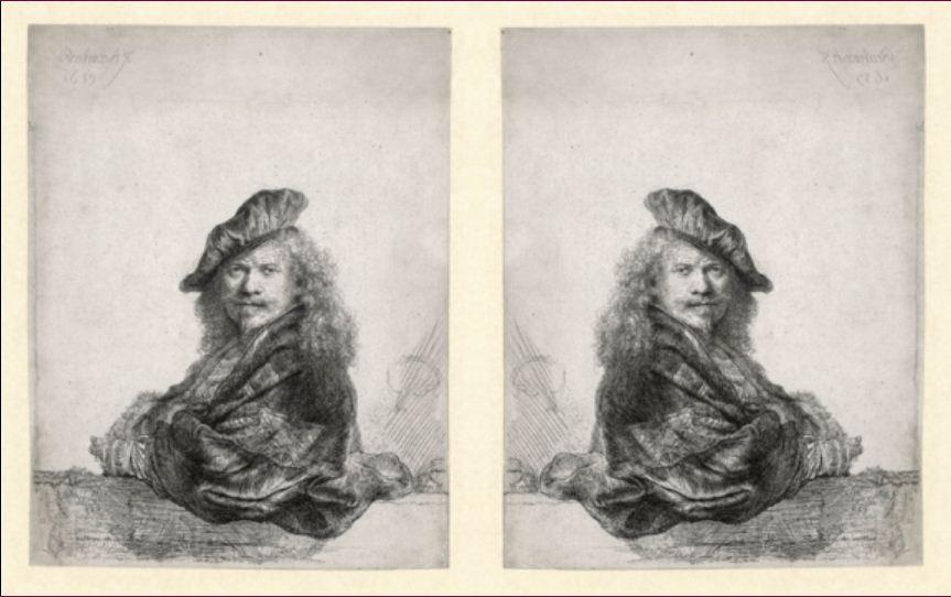 Rembrandt gespiegeld