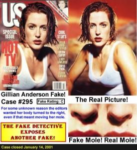 fake detective - Gillian Anderson