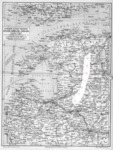 Kaart van Lijfland uit 1895 waar mensen Lijfs spraken