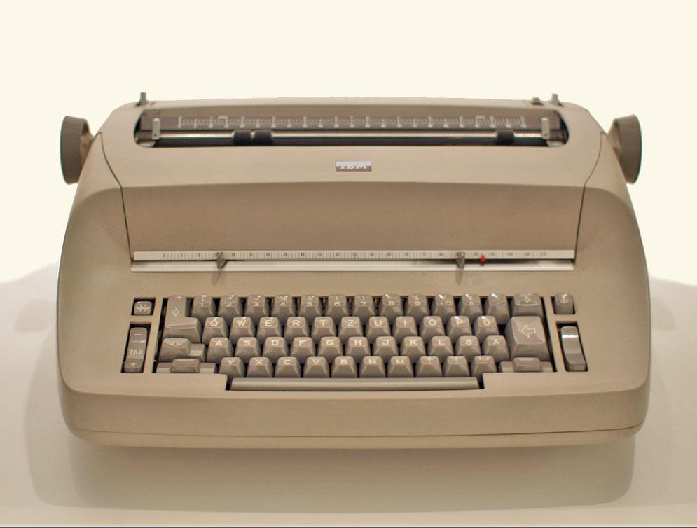 Schrijven op de IBM Sentronic