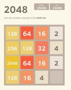 Verslavend spel 2048