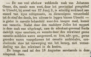 Bericht over Johannes Graus in Helderse Courant aug. 1868