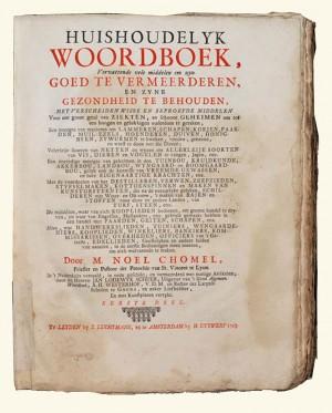 Woordenboek van Noel Chomel