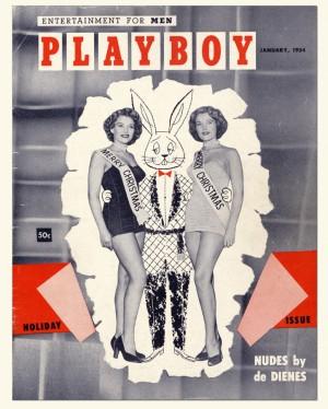 Omslag tweede uitgave Playboy 1954