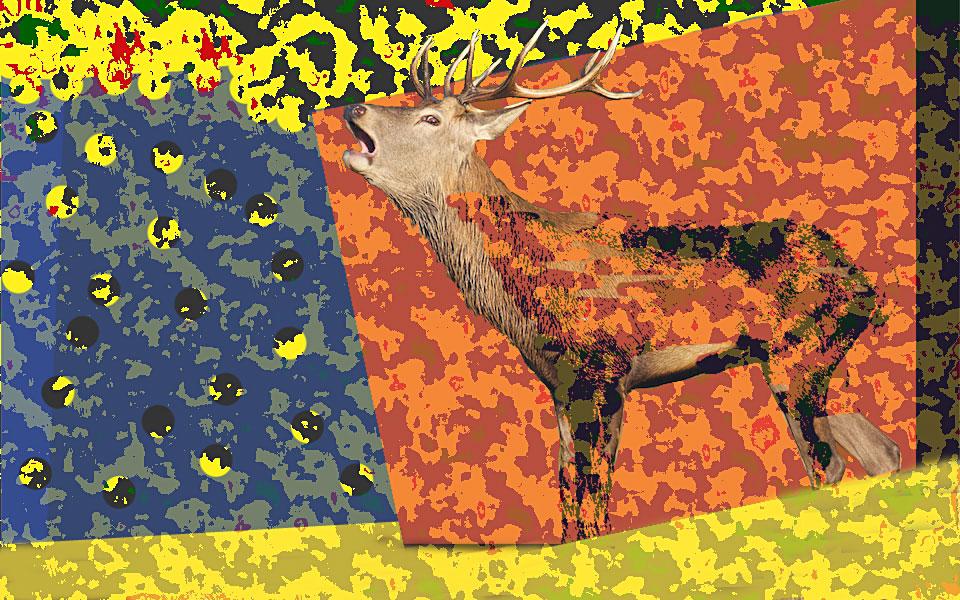 Edelhert - vrij naar Roy Lichtenstein
