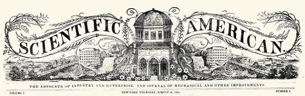 Header van eerste Scientific American