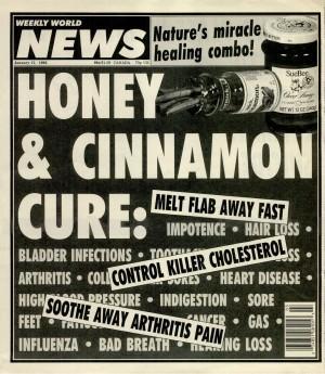 Omslag bij bericht over honing met kaneel