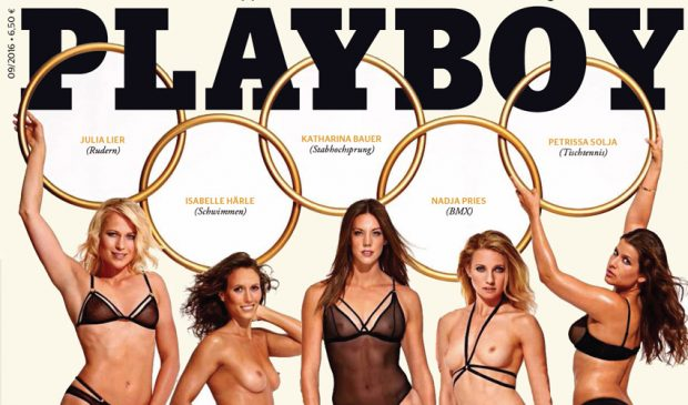 Olympisch bloot in Duitse Playboy