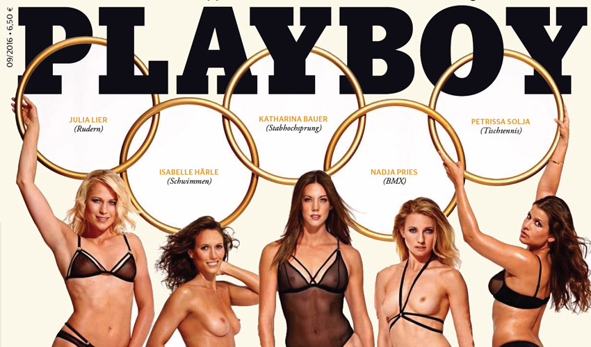 Olympisch bloot in Duitse Playboy
