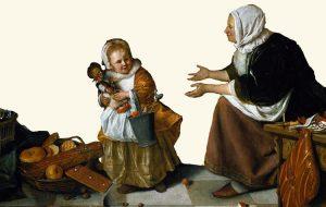 Pepernoten op schilderij Jan Steen