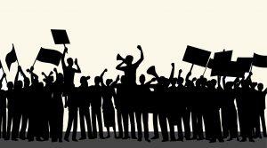 demonstranten menigte controle