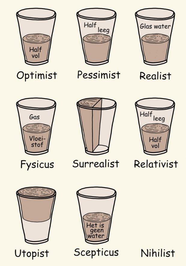 Het glas is halfvol en andere realiteiten