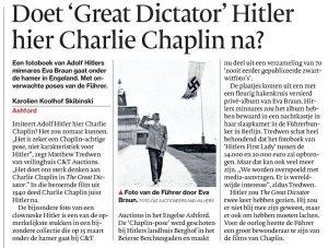 AD bericht over Adolf Hitler en de Chaplin-groet