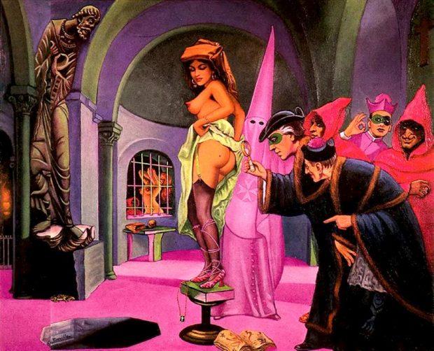 nonnen van Clovis en priesters