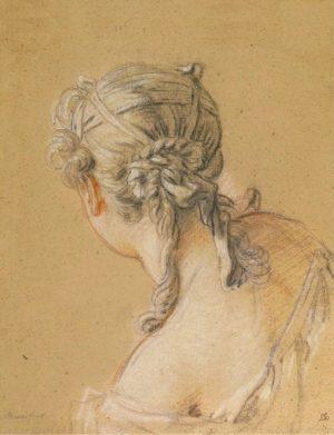 Droom van Baudelaire en tekening van Francois Boucher