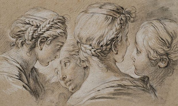 Francois Boucher - study with five girls