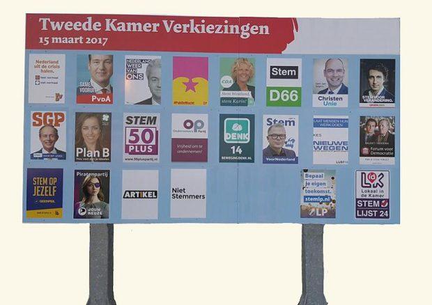 Zwevende kiezer - verkiezingsbord 2017