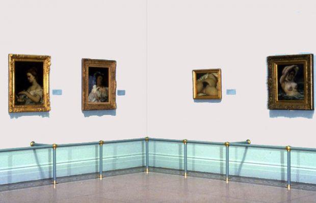 Naakt van Gustave Courbert in Brooklyn Museum 1988