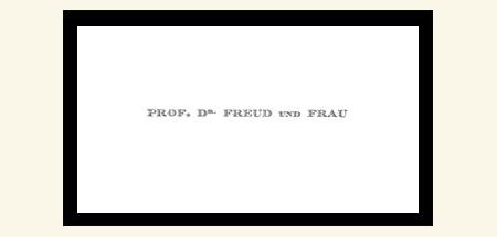 Visitekaartje Sigmund Freud