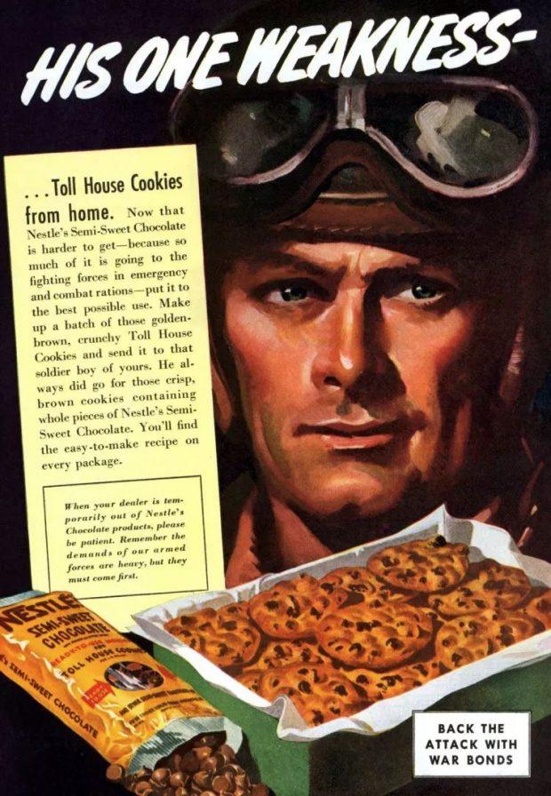 Chocolate Chip koekjes op poster