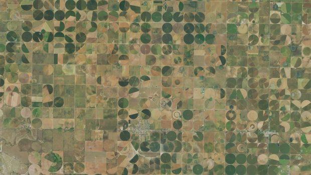 satelliet abstractie van Earth Texas