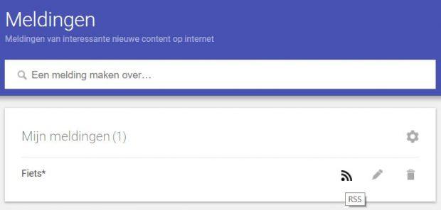 Google Alerts RSS