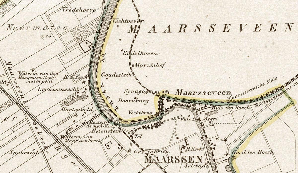 Maarsseveen op oude kaart