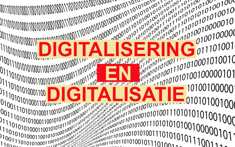 digitalisering en digitalisatie
