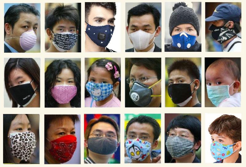mondkapjes in het straatbeeld