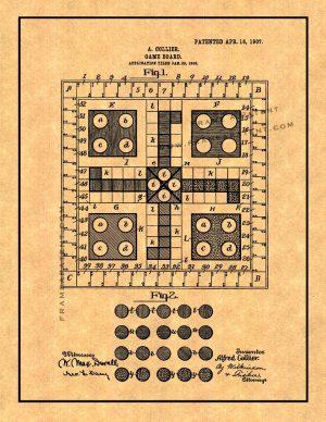 mens-erger-je-niet - het patent van Ludo in 1907
