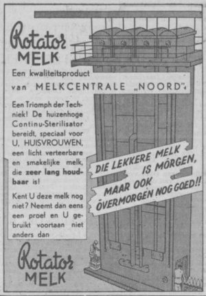 Advertentie Rotator melk