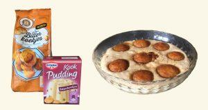 rotator melk en bitterkoekjes pudding