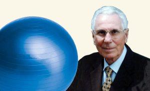 een zitbal - uitvinder Aquilino Cosani