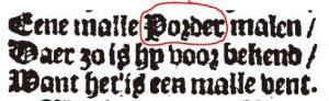 Porder in Utrechts gedicht