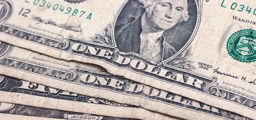 Dollar daalt in waarde