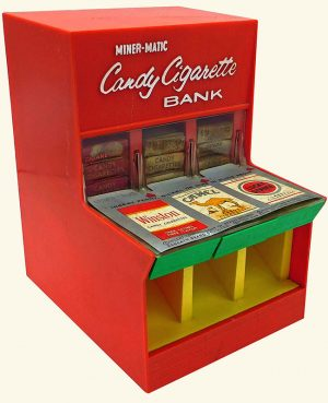 chocolade sigaretten speelgoed automaat
