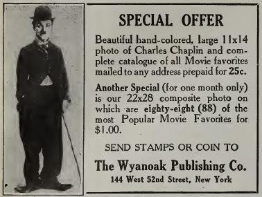 Charlie Chaplin poster in advertentie