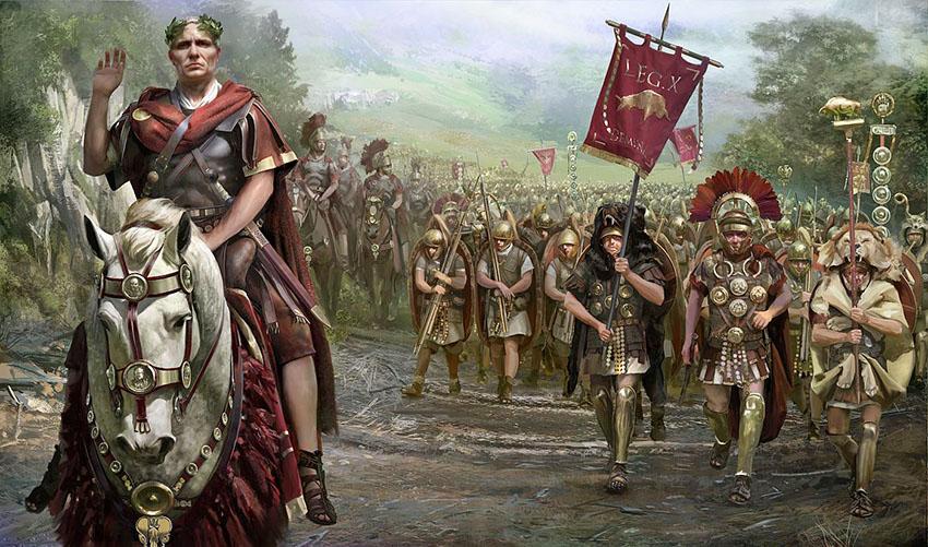 een weg opmijlen door Romeinen
